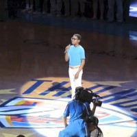 Campbell Walker Sings the National Anthem