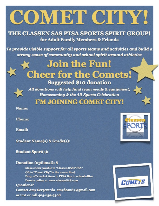 New Sports Spirit Group for Classen Families!